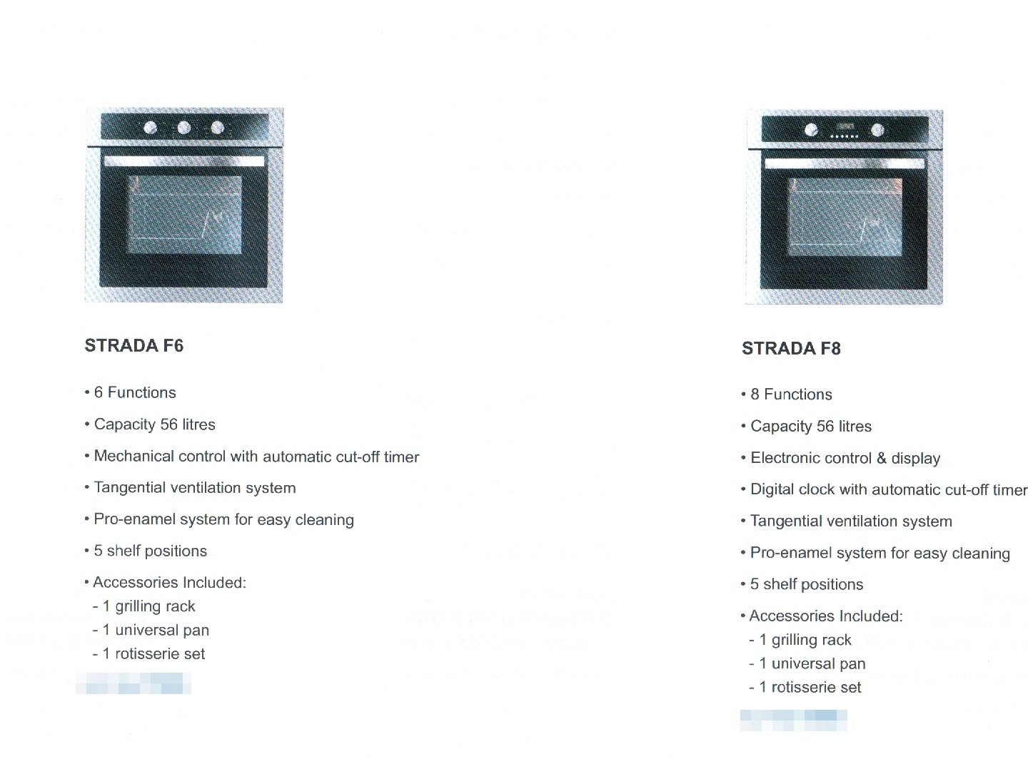 Rubine Strada 6/8 Built-In Oven